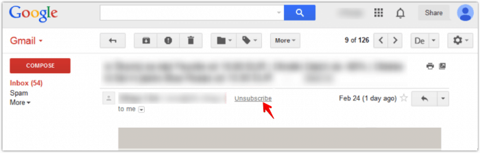 unsubscribe mail spam