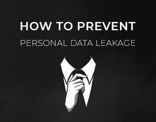 Como posso evitar a fuga de dados pessoais na Internet