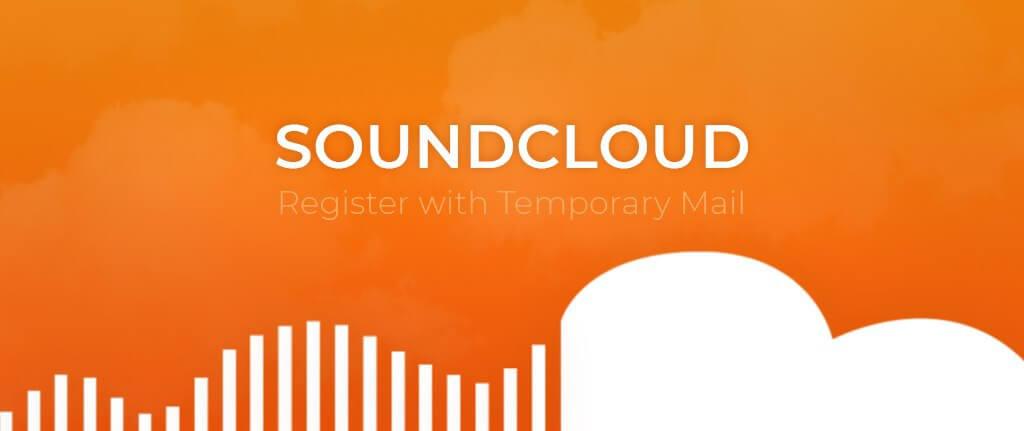 SoundCloud utilizando um serviço de correio electrónico temporário