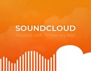 SoundCloud usando um serviço temporário de e-mail