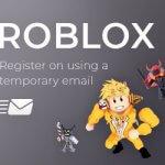 Roblox através de e-mail temporário