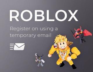 Roblox за допомогою тимчасової електронної пошти